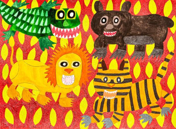 African Animals grrrrrrrrrrr by Sam  Parratt