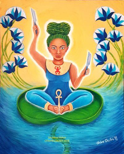 Heqet frog goddess of birth by Chloe Shalini
