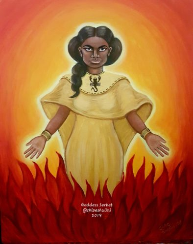 Serqet scorpion healer goddess by Chloe Shalini