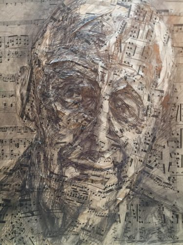 sheet music collage by Ivan Grieve