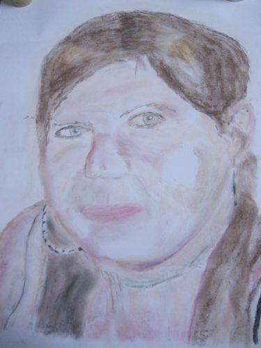Portrait of Elaine Morrall by Joy Turner