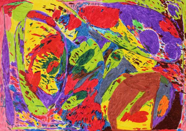 Untitled (Green, Red, Purple) by Michael Joyce