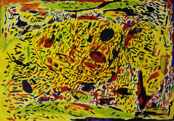 Untitled (Yellow, Black, Red) by Michael Joyce