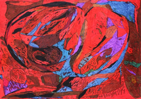 Untitled (Red, Blue, Brown) by Michael Joyce