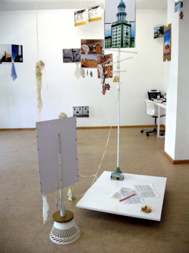 'View North via Frankfurter Tor' (installation view) by Barbara Ryan