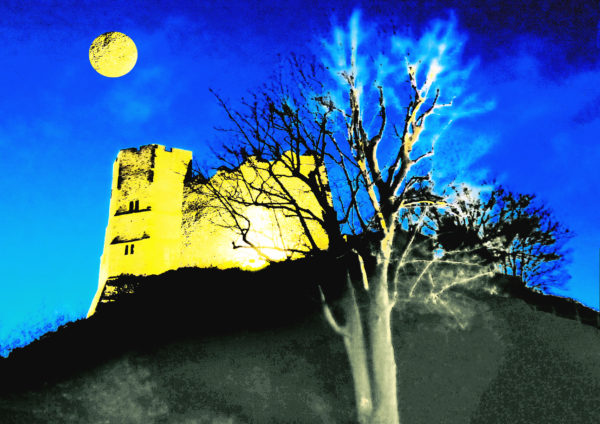 Lewes Castle by Moonlight by Sarah Harris