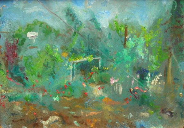 SOLD – 'The Garden of Sensual Harmony, Lemba, Cyprus'  2006 by Jonathan Peter Smith