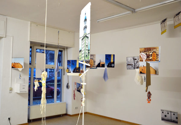 Installation View with Orthodox Cross ( North West Corner) by Barbara Ryan