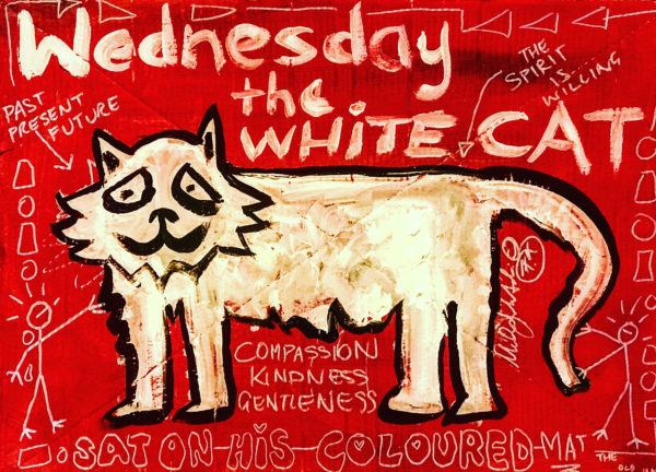 Wednesday the white cat by MAT THE OLD MAN