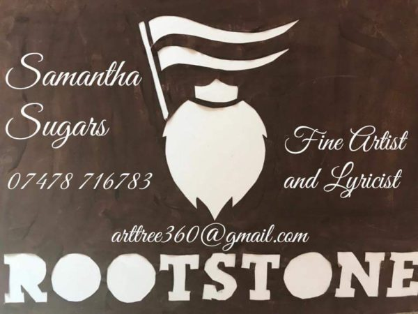Rootstone business card by Samantha Sugars