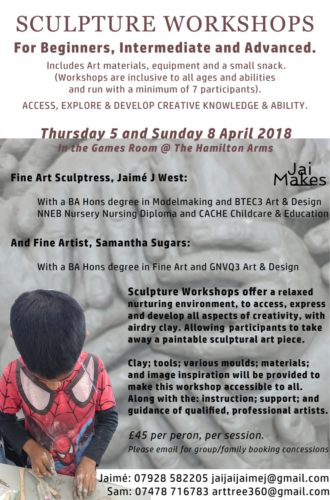 Poster for collaborative workshops by Samantha Sugars