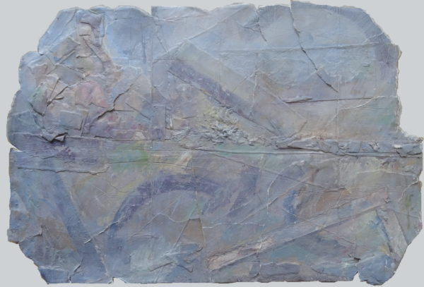 'Dynamic Traces on Blue-Grey Relic (Transformed Landscape: Cwmorthin/ North Wales' Scarred History Submerged and Glimpsed)' 2018 by Jonathan Peter Smith