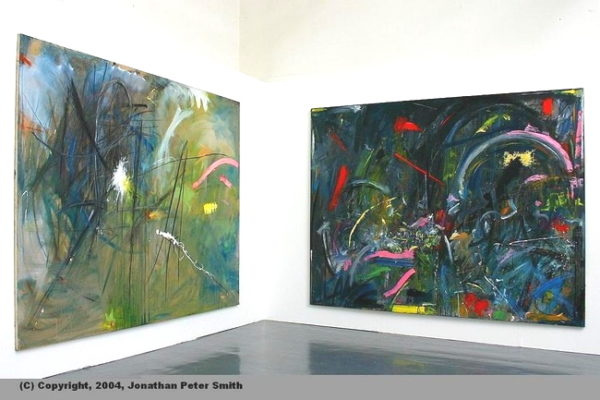 Paintings 1 and 2 (2004) in a gallery by Jonathan Peter Smith