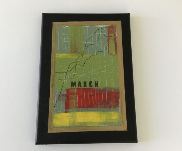 Graph Featuring All Aspects of March Including Loneliness by Cathy Chilly