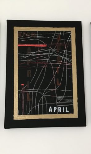 Graph Featuring All Aspects of April Including Anxiety by Cathy Chilly