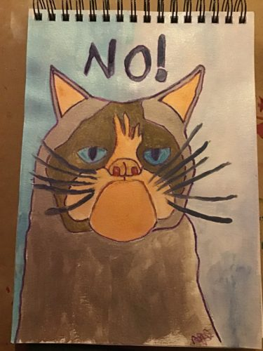 Ode to Grumpycat by Emlyn William Scott