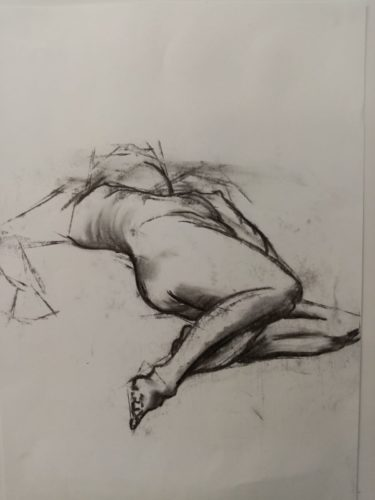 Female reclining by Lauren Saunders