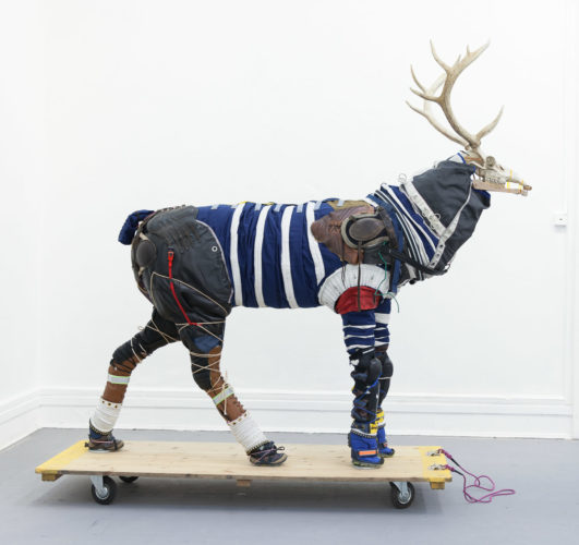 Stag (spacesuits for animals) by Sarah Fortais