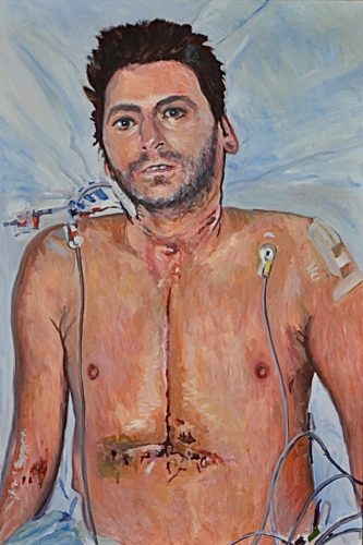 Self-Portrait 'One Week after My Heart Transplant' by Brian Keeley 2020