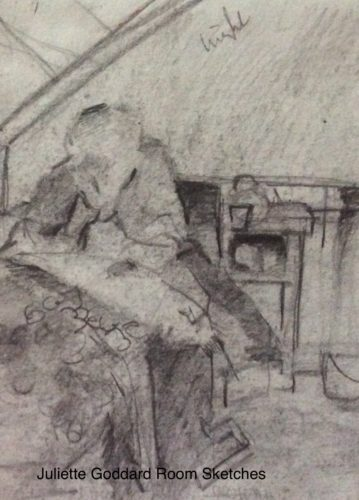 Pencil sketches from Room by Juliette Goddard