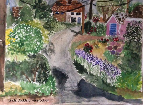 Linda Goddard watercolour by Juliette Goddard