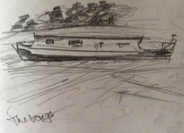 The Barge sketches by Juliette Goddard