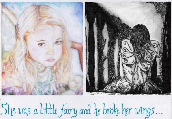 She was a fairy, and he broke her wings… by Lorna-Belle Harty