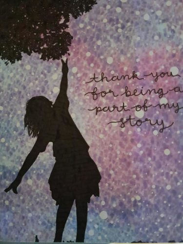 Thank you for being a part of my story. by Lorna-Belle Harty