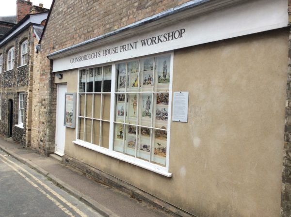 Thomas Gainsborough print  workshop Sudbury Suffolk by Juliette Goddard