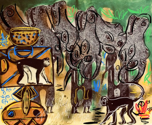 Art inspired by Africa tribal effects by Juliette Goddard