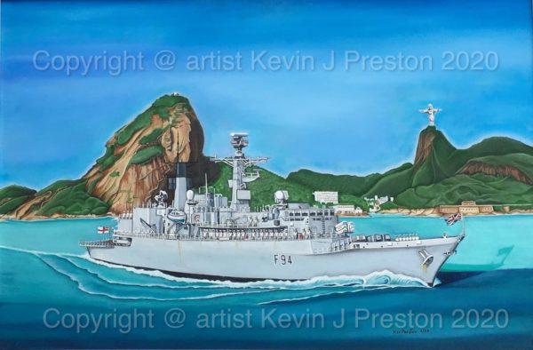 HMS Brave Type22  Rio De Janeiro by Kevin Preston