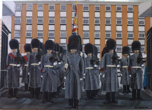 PARADE DISMISSED!   The Final Guard outside Chelsea Barracks by Kevin Preston