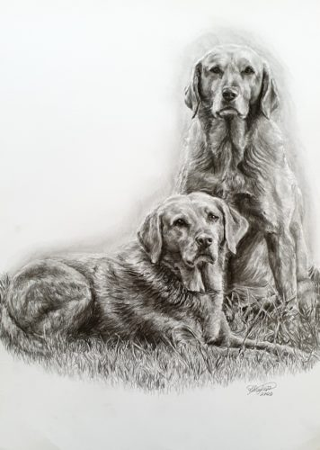 Sybil and Dot by Rebecca Taylor Graphite Artist