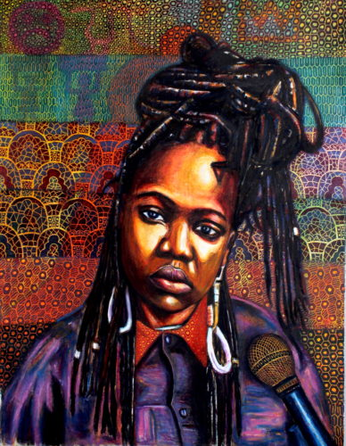 Portrait of Xola Ndabankulu by Brian Mthobisi Maphumulo