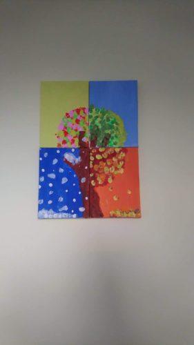 Tree seasons by Cerys Giles