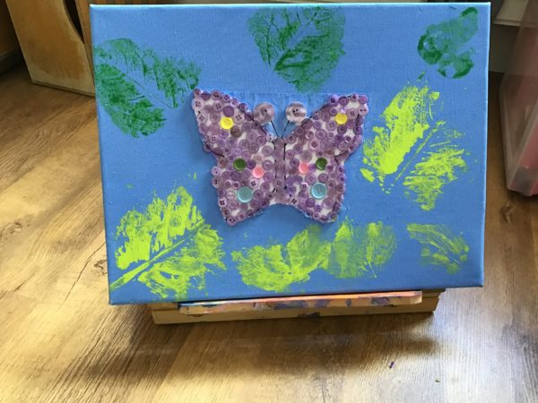 Button Butterfly by Cerys Giles