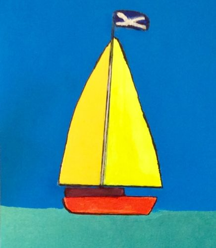 The Sailing Boat by Mark H Edgecumbe