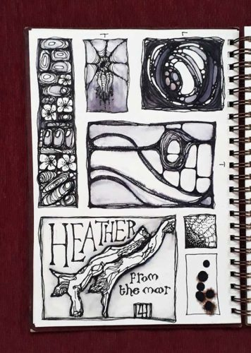 Sketchbook Page 01 by Laura Hughes