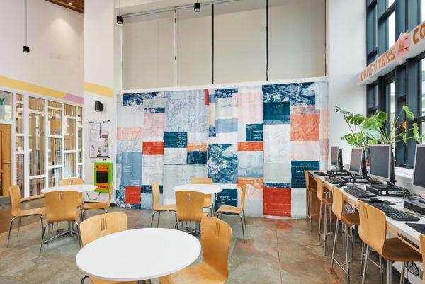 Boghall Community Center Cafe Curtains by poppy nash