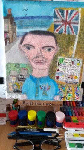 Artist at work by Merlin
