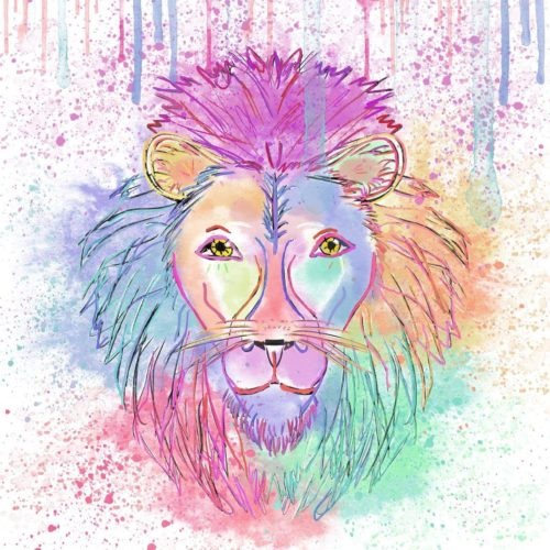 Rainbow Pride Lion by Esme Lee