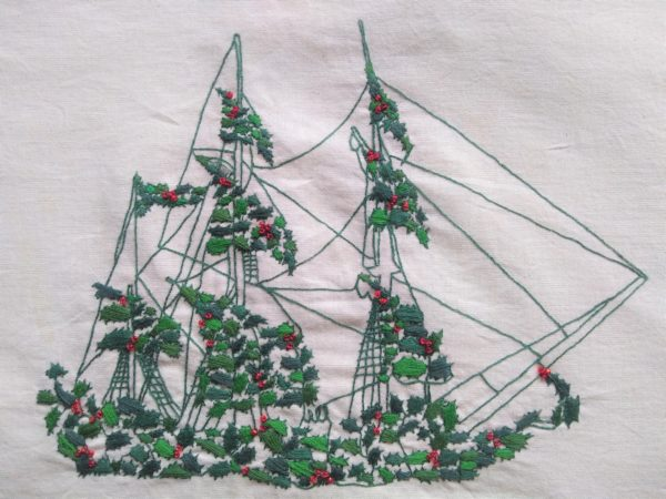 Pirate ship made of holly by Kate Rolison