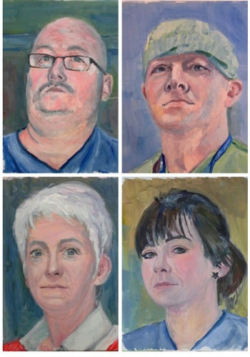 Four portraits from the seris Lifesavers by Brian Keeley 2020