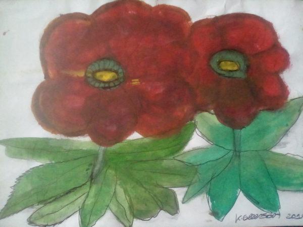 Leafy flowers by Kaya Nikita
