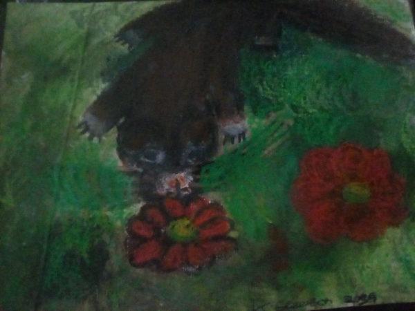 Inquisitive ferret by Kaya Nikita