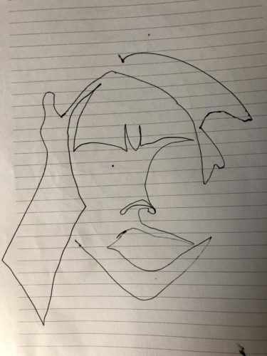 Single line fidget zoom portrait 2 by Hayley Williams-Hindle