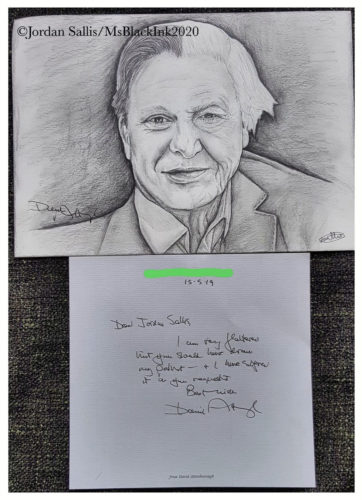 David Attenborough by MsBlackInk