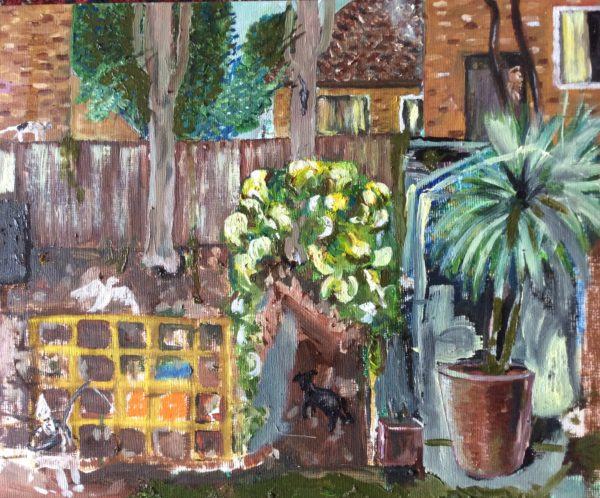 Looking into back garden by Jules