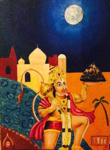 Hanuman Rises by Jules