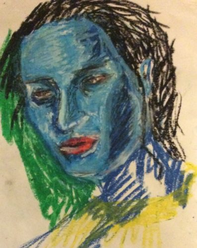 blue face by Jules